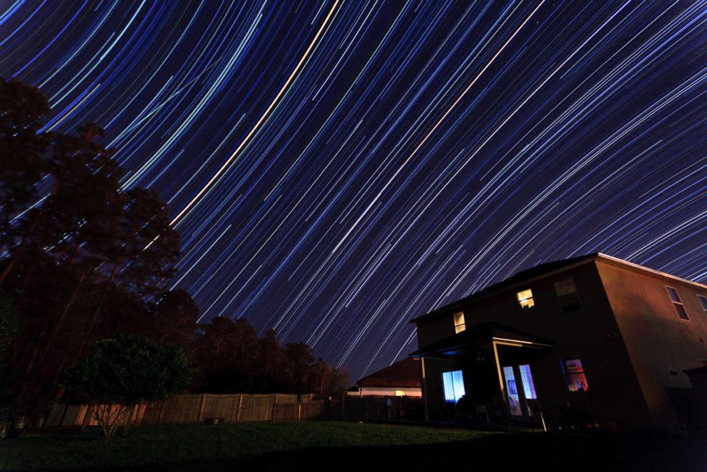 backyard star trails facing east