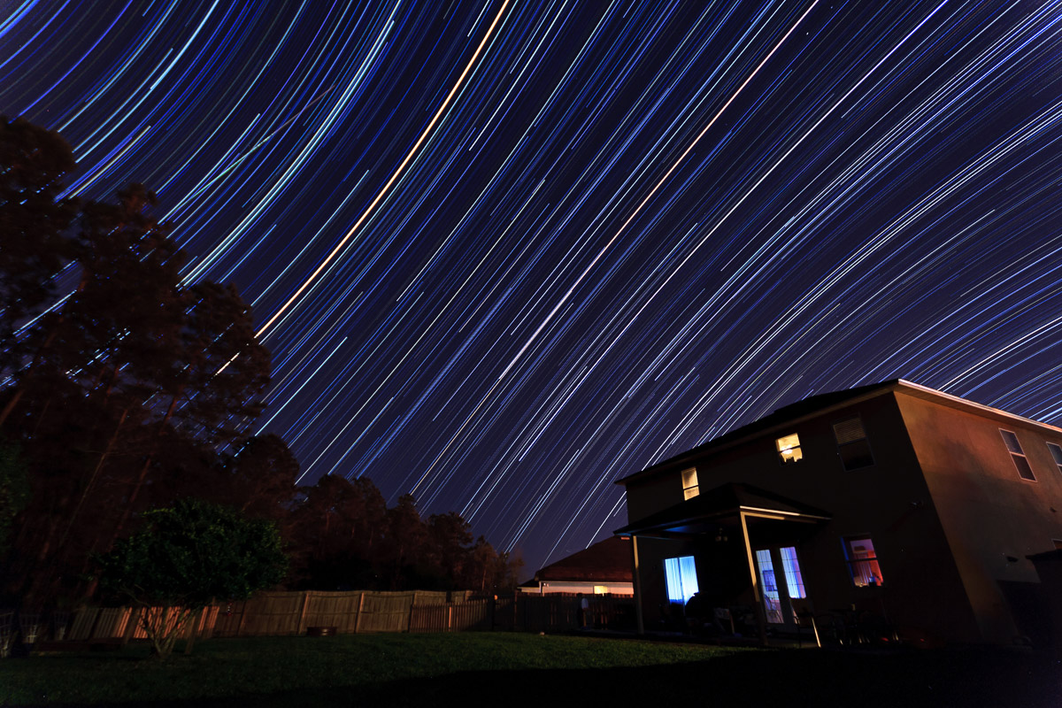 backyard star trails facing east