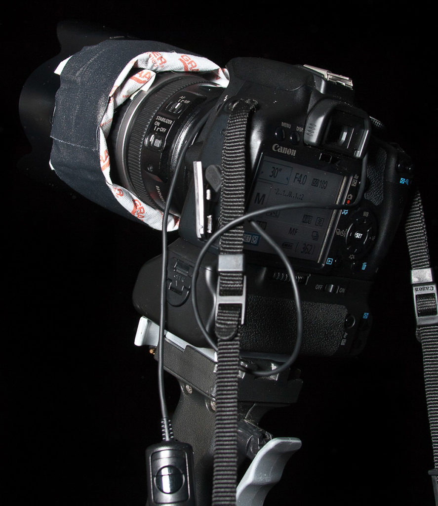 camera with hand warmers to keep the lens from fogging