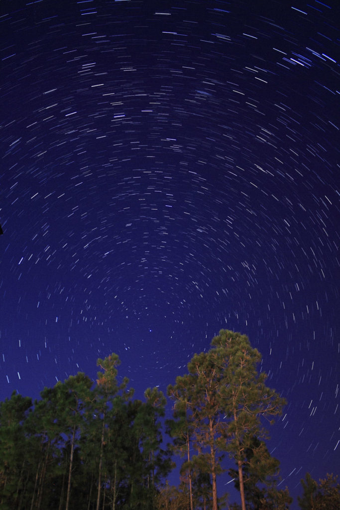 Star Trails Exposure Time of 10 Minutes