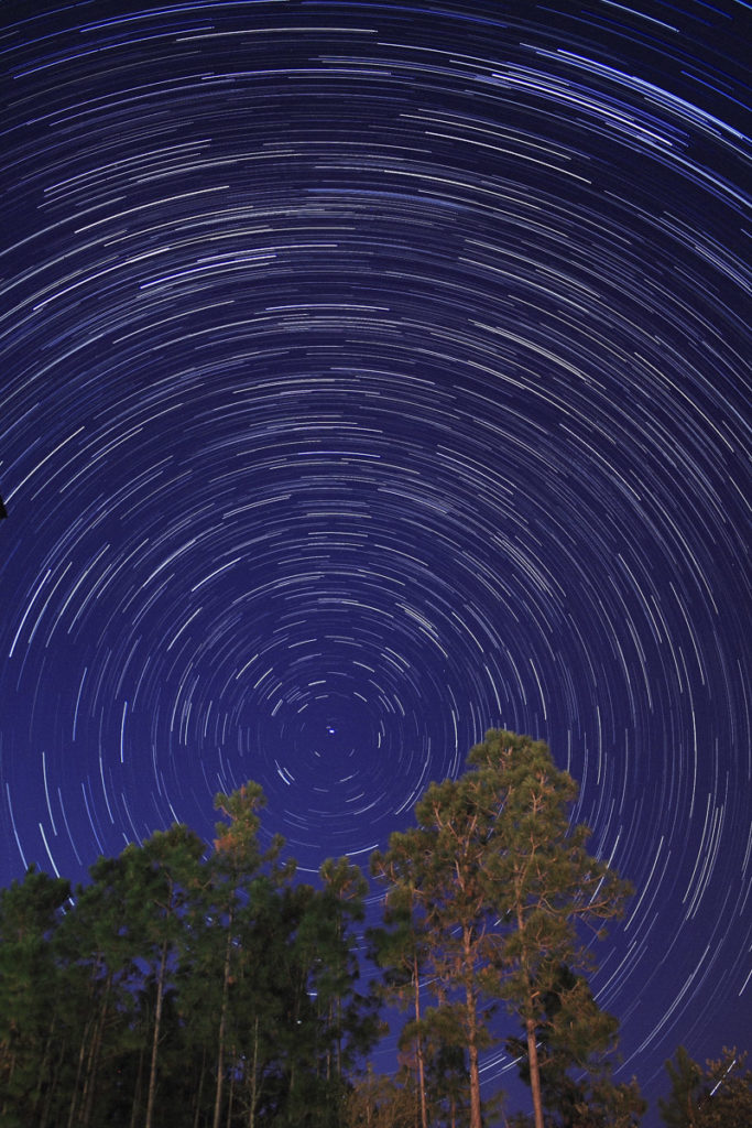 Star Trails Exposure Time of 60 Minutes