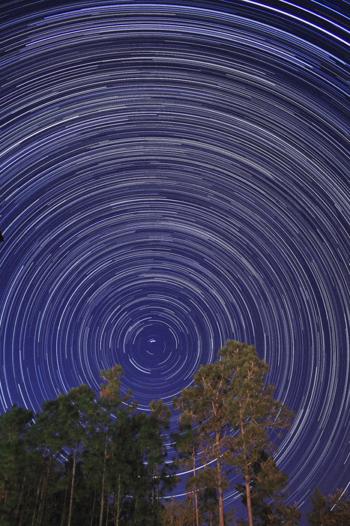 Star Trails Exposure Time of 180 Minutes