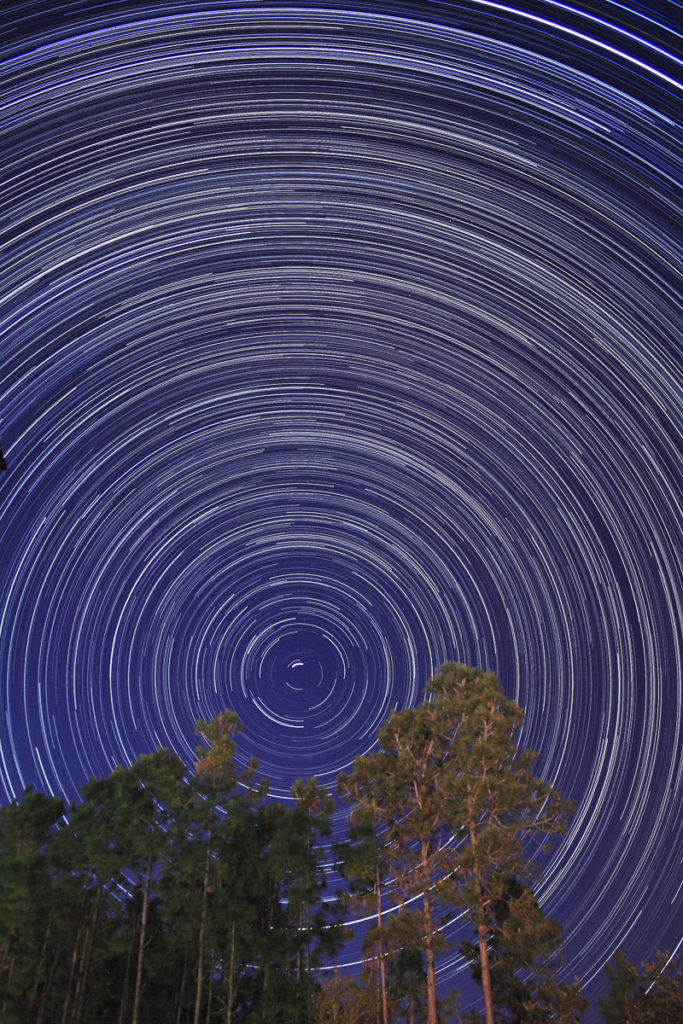 Star Trails Exposure Time of 235 Minutes