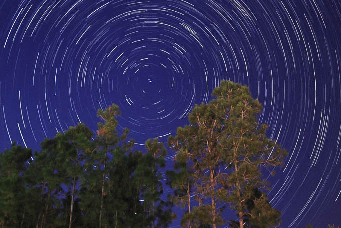 star trails exposure time 60 minutes