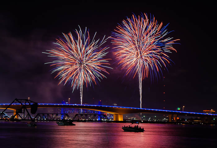 4th of July Celebration over Jacksonville, Florida