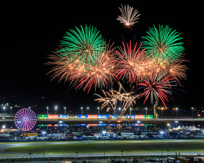 Fireworks over the Rolex 24 at Daytona International Speedway