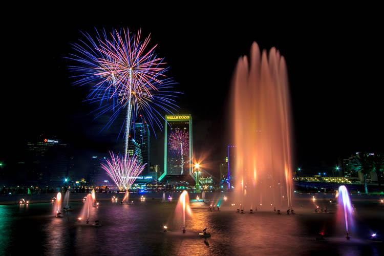 Fireworks over Jacksonville, Florida