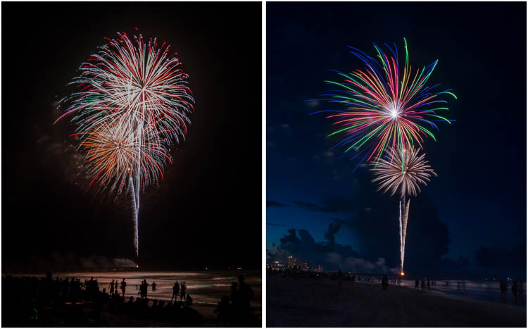 4th of July Celebrations over Jacksonville Beach, Florida
