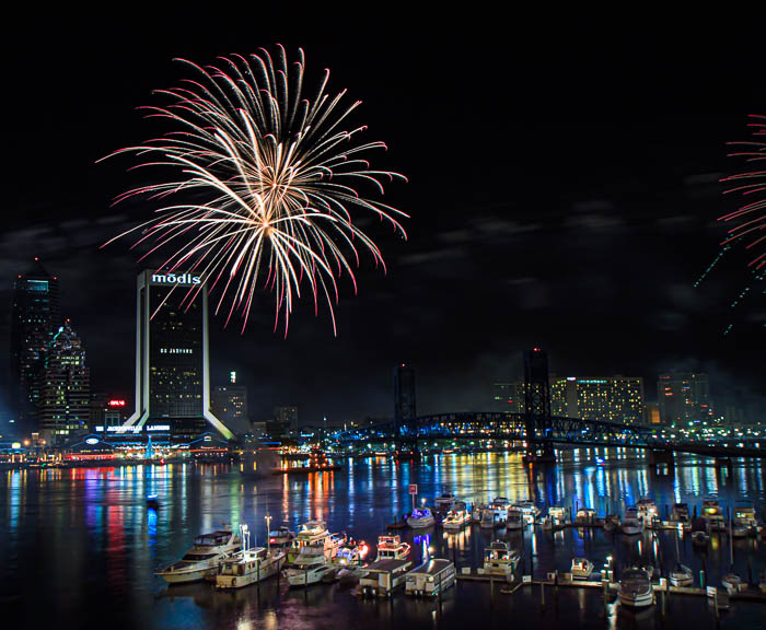 New Years Eve Celebration over Jacksonville, Florida