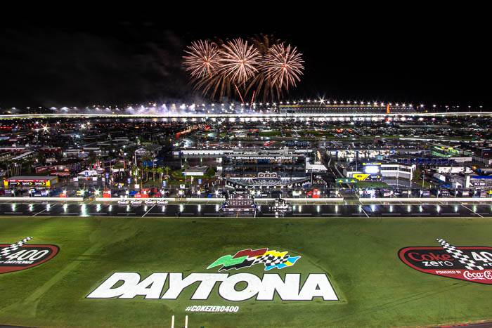 Fireworks over the Coke Zero 400 at Daytona International Speedway